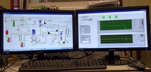 An example of laboratory pilot plant realized in collaboration by NICL and Eurochem Engineering srl with a automation view